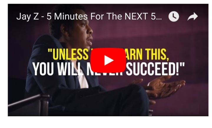 Take 5 Minutes For The Rest of Your Life…| Jay-Z